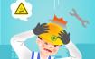 10款安全施工操作警示火宅消防i卡通小人插图插画ai矢量设计素材