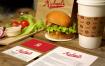 12款汉堡餐饮冷饮VI贴图展示样机PSD源文件打包下载