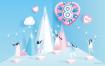 7款三八女王节女神节女人节妇女节插画活动海报唯美背景矢量设计素材
