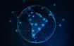 10款蓝色科技感地球网络图矢量素材