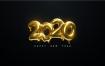 36个精美大气2020年字体模板矢量素材