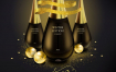 9款精美化妆品护肤品圣诞节美妆海报专题首页模板PSD设计素材