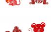 98款2020年鼠年剪纸插画风格中国红色新年春节喜庆装饰窗花AI矢量文件PSD素材源文件打包下载
