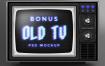 12款电视机故障风格特效文字文本效果PSD智能贴图样机模板素材