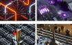 68款C4D金属霓虹灯炫彩光效炫酷科幻机械科技未来场景3D模型素材