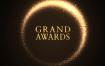 11款创意绚丽黑金现代灯光效果舞台曲线时尚金色美光英文海报PSD素材