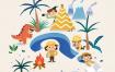 9款手绘卡通儿童早教问号学习知识教育海报插画PSD模板素材设计