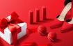 12款彩色物品摆放高级广告创意展示场景PSD分层设计素材模板