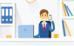 20个扁平风格商务人士工作场景矢量素材下载