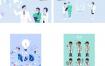 35款医生护士医疗医院健康卫生知识宣传卡通插画海报AI矢量素材模板