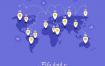10款2.5D手绘卡通5G网络时代通讯移动互联网速AI矢量插画设计
