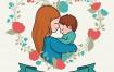 15款母亲节矢量素材打包下载(包含插画,艺术字体等元素)
