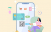 30款快乐自由单身生活直播自媒体娱乐休闲插画海报背景AI矢量素材