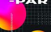 30款荧光流质渐变几何图形创意抽象画报海报背景PSD设计素材模板