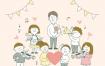 10款手绘卡通插画教师节感恩老师学生教室感谢送花PSD模板素材毕业