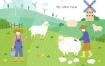 10款手绘卡通农场种植畜牧养殖鸡鸭猪耕种田园农家乐PSD设计素材