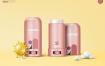12款化妆品护手霜乳液鸭嘴产品广告物品摆放拍摄PSD分层设计素材