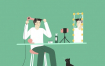 12款手绘数码插画美妆博主直播化妆造型宣传海报psd模板设计素材