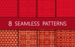 13款无缝对接中国元素鲤鱼中国红纹理矢量素材