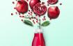 14款水果创意果汁饮料奶茶店咖啡橙子瓶子香蕉广告海报PSD分层素材