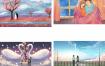 77款爱情七夕情人节情侣手绘插画卡通浪漫情人节UI设计素材PSD源文件