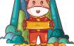 12款国潮新年元旦春节2021牛年卡通小牛形象财神元素装饰图案矢量素材