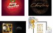 #平面设计素材# 70款精美圣诞节卡片大合集矢量素材 