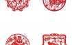 41款中国红色新年春节喜庆2021年牛年剪纸插画装饰窗花PSD素材
