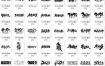 41款毛笔书法2021牛年贺岁金牛送福手写艺术新年春节字体设计素材psd源文件