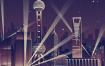 34款古建筑中国风国潮城市旅游景观海报插画扁平风印象地标PS设计素材