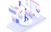 10款3D立体2.5D高科技5G移动通信插画矢量素材合集