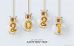 2021年新年快乐数字红丝带艺术字体矢量素材打包下载
