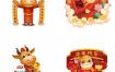 158款国潮新年元旦春节2021牛年卡通小牛形象财神元素装饰图案素材PSD源文件