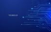 9款蓝色电子芯片电路板科技海报展板背景AI素材