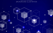10款简洁蓝色未来科技智能动感线条海报展板背景AI素材