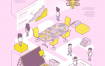 12款2.5D扁平化网络科技插画AI素材