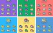 12款彩色医疗人物卡通头像AI素材