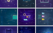 16款电子网络科技背景AI素材