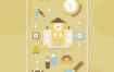 16款创意扁平化插画元素AI素材源文件下载
