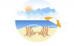 16款夏日旅游旅行插画小元素AI素材源文件下载