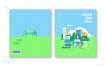 10款环保新能源保护环境风力发电插画AI素材