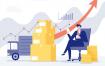 12款金融投资理财箭头股市插画AI格式