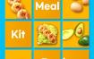 7款餐饮美食蔬菜海报PSD素材下载