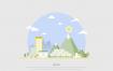 12款环保新能源风力发电太阳能插画AI格式下载