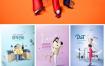 9款购物健身家居商务办公学习教育音乐海报PSD素材