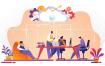 17款企业文化团队合作商务插画EPS素材