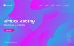 10款彩色流体波浪活动KV海报背景EPS素材