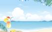 10款夏日海滩沙滩插画PSD格式