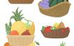 11款手绘水果果汁PSD格式