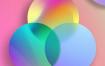 12款彩色渐变立体方块背景PSD格式